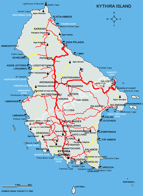 Kythira Landkarte